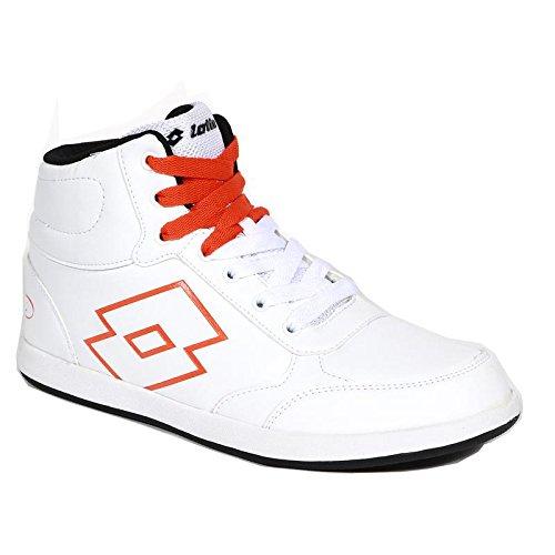 Buy Lotto Men Logo Plus Hi White/Orange