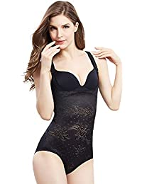 0c8329b787523 Women s Body Shaper Smooth Wear Slimmer Open Bust Shapewear Bodysuits  Trainer with Firm Tummy Control
