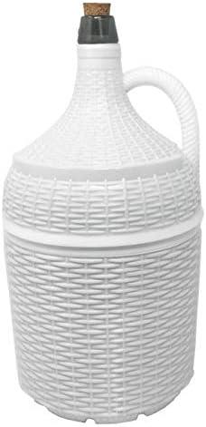 Garrafón de cristal con forro de plástico blanco 5L