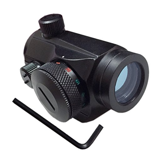 Pinty Tactical Reflex Red Green Dot Sight Scope with Windage Elevation Adjustment