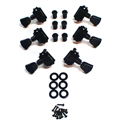 Kluson Revolution G-Mount 19:1 Ratio Tuning Machines 3 Per side Black KED-3801B