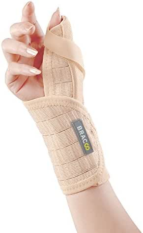 Bracoo Wrist Brace with Thumb Stabilizer, Removable Orthosis for Chronic Tenosynovitis, Carpal Tunnel Syndrome Relief, Sprains (Right Hand), TP31, 1 Count