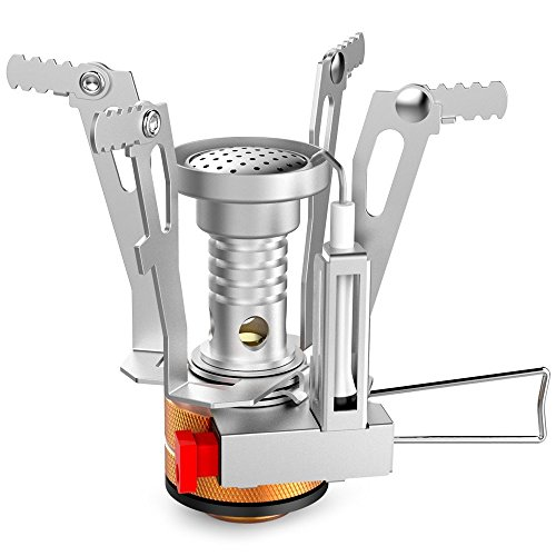 Camping Stove - Portable Outdoor Backpacking Stove, Ultralight Folding Tripod Collapsible Stoves (Butane Compatible) (Propane Stove Go)