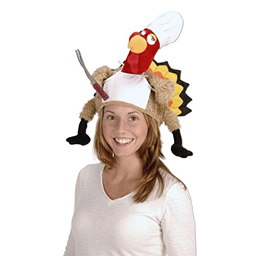 Pack of 4 Plush Chef Thanksgiving Turkey Costume Party Accessories by Party Central