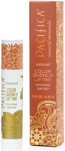 Pacifica Beauty Color Quench Natural Lip Tint, Coconut Nectar, 0.15 Ounce