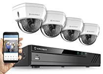 Amcrest 8CH Plug & Play H.265 4K NVR 4K (8MP) 3840x2160 Security Camera System, (4) x 8-Megapixel 2.8mm Wide Angle Lens Weatherproof Metal Dome POE IP Cameras, 98ft Nightvision (White)
