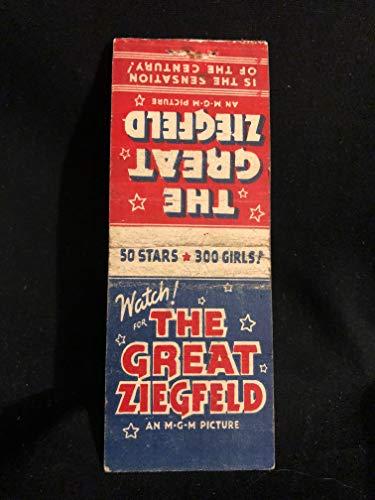 (Original 1936 The Great Ziegfeld Cigarette Card Movie Poster RARE, MGM, Myrna Loy, William Powell, 50 Hollywood Stars )