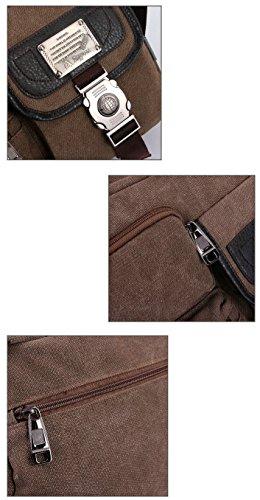 Tonwhar mbag16 - Bolso de asas para hombre Varios colores multicolor, caqui (Varios colores) - mbag16 café