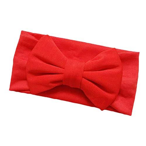 MOPOLIS 1PC Beautiful Baby Kids Newborn Girls Bow Flower Headband Hairwear Accessories | Color - Red