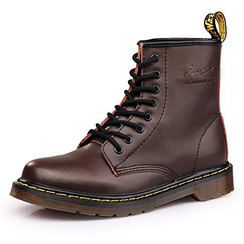 Mocassini Brown Moto Martens Scarpe Per Uomo Stivali Oxford Autunno Inverno Caldo Fhcgmx Pelle Stivaletti In CtAqx