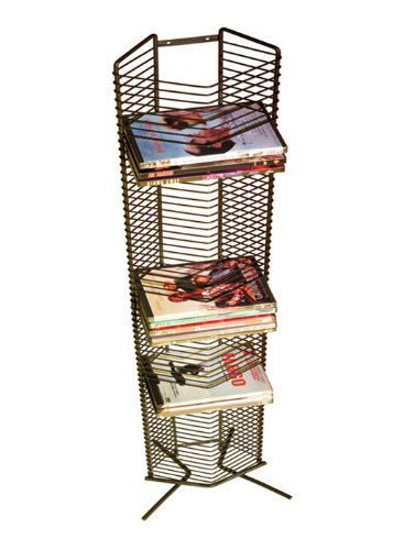 Rays Hanging - Atlantic Onyx 1332 Wire CD-Tower - Holds 65 CDs in Matte Black Steel, PN 1332