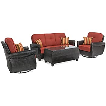 amazon com hampton 8 piece outdoor wicker patio furniture set 08a