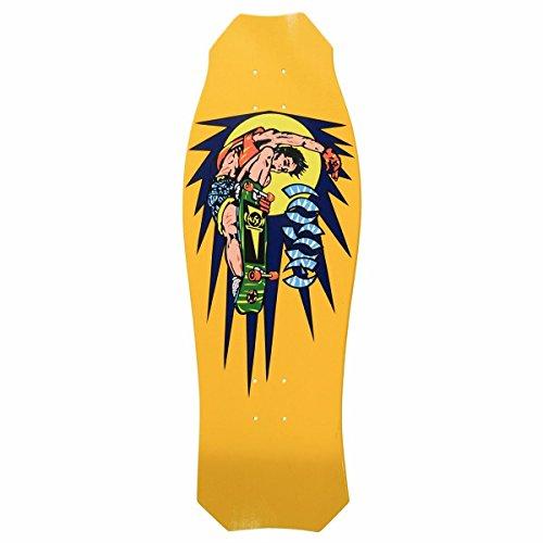 Hosoi Skates Christian Hosoi Rocket Air Mini Skateboard Deck Yellow Dip -
