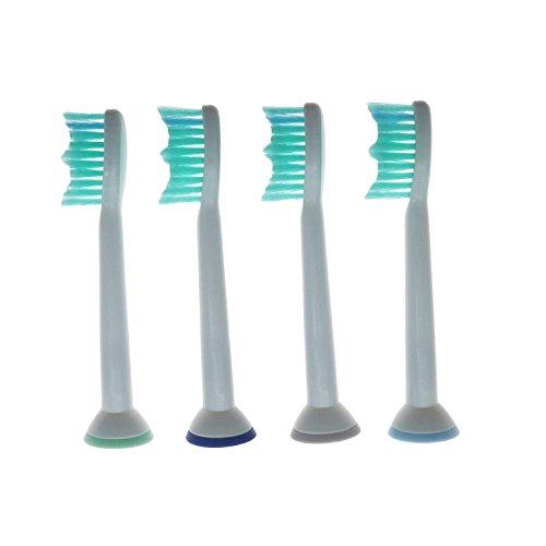 Ronsit 4pcs Electric Toothbrush Heads work with Proresult Hx6530 Hx6014 Hx6013