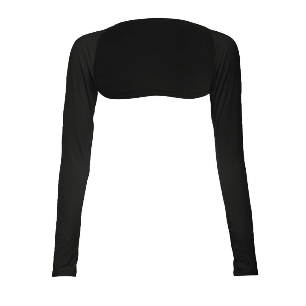 Toimothcn Fashion One Piece Sleeves Arm Cover Shrug Bolero Hijab Muslim(Black,Free)