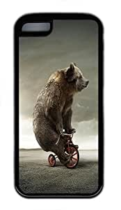IMARTCASE iPhone 5C Case, Funny Circus Bear Durable Case Cover for Apple iPhone 5C TPU Black