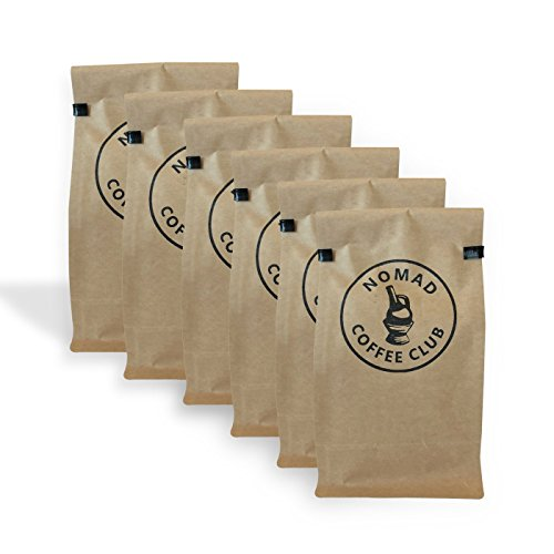 Nomad Coffee Club 6 Month Coffee Subscription Box - Whole Bean, Organic, Fair Trade (12 oz)