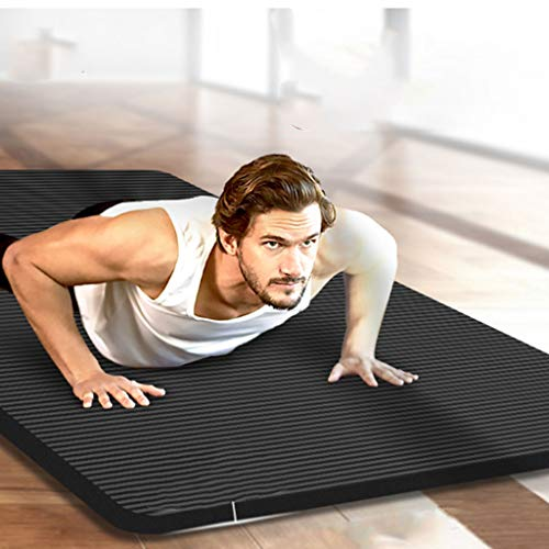 NFJMWM Yoga Mat Home Fitness Mat Floor Mat Thickened Widened Lengthened Non-Slip Sports Mat Yoga Exercise Mat Home Men
