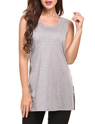 Halife Womens Solid Basic Sleeveless