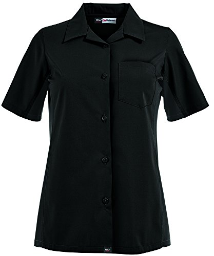 ChefUniforms.com Women's Kitchen Shirt with Mesh Sides (XS-3X, 2 Colors) (Large, Black) by ChefUniforms.com (Image #5)