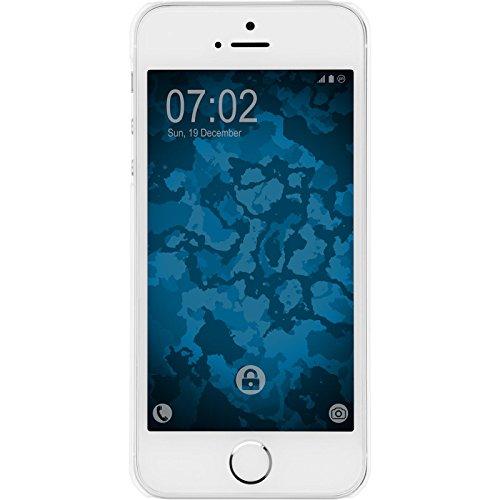 PhoneNatic Case für Apple iPhone 5 / 5s / SE Hülle silber Stardust Hard-case für iPhone 5 / 5s / SE + 2 Schutzfolien