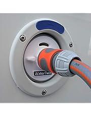 Wassertankdeckel Adapter mit Anschluss für Gardena System für Wohnmobil, Caravan, Boot mit Überlauffunktion und integrierter Doppelkupplung (Passend für Tankdeckel 3-Pin D:78mm)