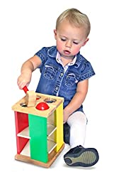 Melissa & Doug Deluxe Pound and Roll Wooden Tower Toy With Hammer