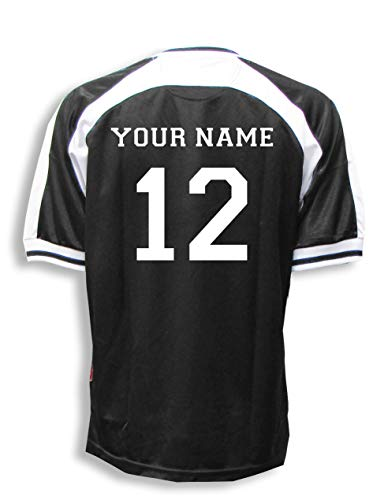 Spitfire soccer goalie jersey with your name and number - size Adult L - color Black/White]()