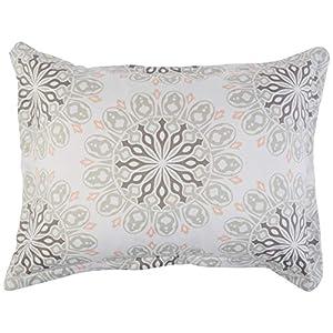 Amazon Basics 8-Piece Bed-in-a-Bag – Soft, Easy-Wash Microfiber – Twin/Twin XL, Grey Boho Medallion