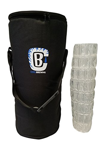 Keg Cooler Bundle for Home Brew - Beer Cooler for 5G Keg & Corny Keg With Ice Sheet/Wrap by Cool Brewing - Mini Golf Cooler Bag