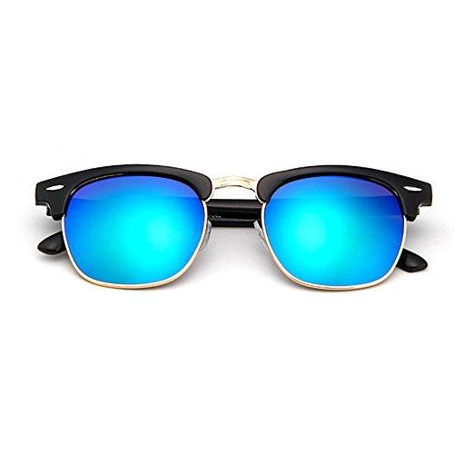 Soleil Lentille Unisexe eintés Bleu Vue Vintage Polarisées Cadre Foncé et de Femme Lunettes Nouveau de Frame Lunette Homme pqBgxqC