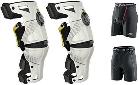 Mobius X8 Knee Braces Large White / Acid Yellow