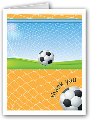 Soccer Thank You Note Card 10 Boxed Thank You Cards
