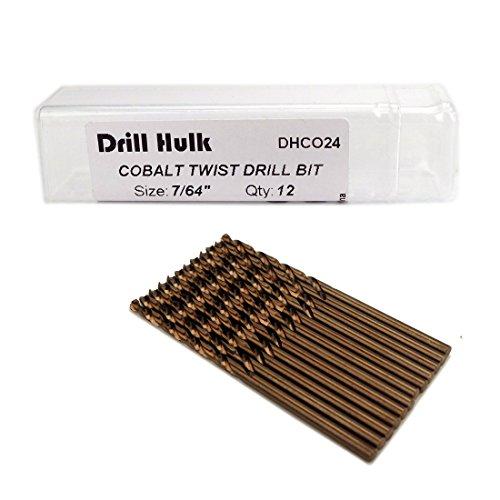 7/64-Inch Cobalt Steel M35 Jobber Length Twist Drill Bits for Hard Metal, Stainless Steel, Pack of - Drill 64 Length Jobber
