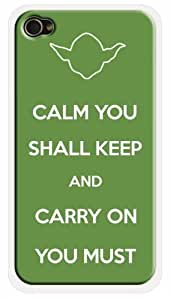 Keep Calm Star Wars Yoda Quote iPhone 6 Case - iPhone 4s Star Wars Theme Cover
