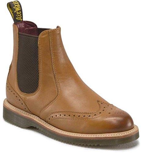 Dr. Martens Chaussures Flo Tan bruni Servo Lux en cuir Bottes