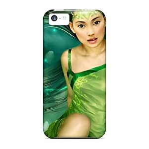 5c Scratch-proof Protection Case Cover For Iphone/ Hot Green Princess Phone Case