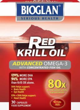 Bioglan red krill oil fish oil capsules pack of 30 for Red fish oil