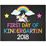 First Day of Kindergarten Sign, First Day of School Sign, Back to School Sign, Unicorn School Sign, Unicorn Kindergarten Sign, 2018 Glossy 8x10 Sign