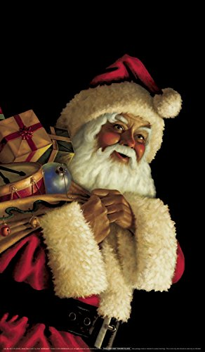 """WOWindow Posters Santa Claus Jolly Christmas Window Decoration 34.5""""x60"""" Backlit Poster"""