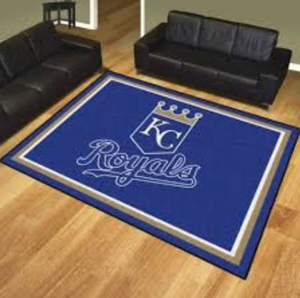 K&A Company MLB - Kansas City Royals 8'x10' Rug Ultra Plush Area - City Tiles Kansas Carpet