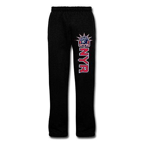 Black VAVD Men's New York Rangers 100% Cotton Sweatpants Size - New Triathlon York Shop