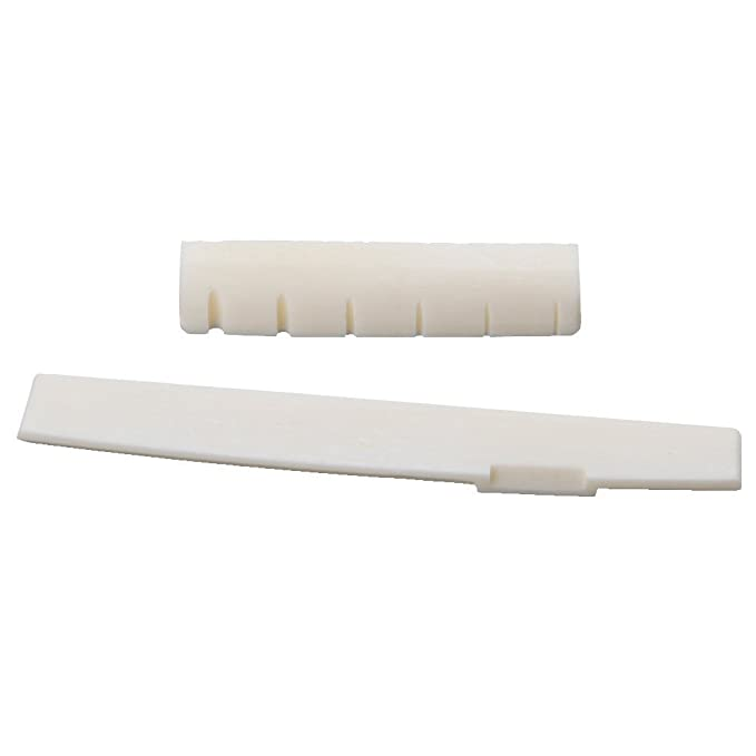 Conjunto de puente y cejuela de HUESO NATURAL para guitarra acústica. No es ABS, resinas o plástico.: Amazon.es: Instrumentos musicales