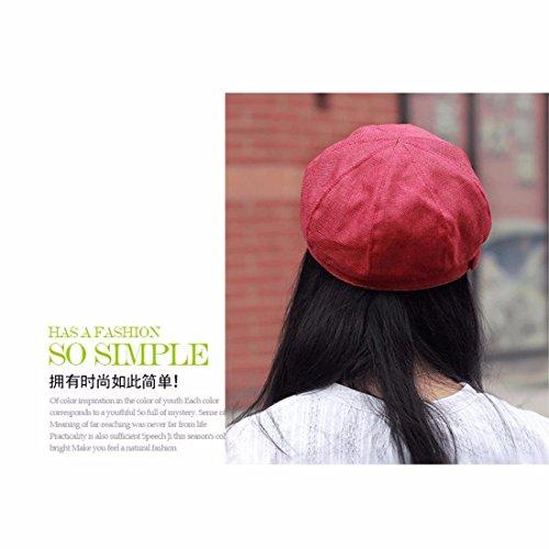 moda de boina marrón Nuevos otoño hembra algodón punta productosPrimavera El rojo de Hat Xiaogege sombrero y de Tapa cap gorra del lindo z8q4wF