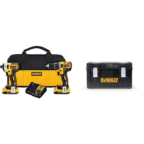 DEWALT DCK283D2 20V MAX XR Compact Cordless Drill/Driver & Impact Driver Combo Kit with DWST08203H Tough System Case, Large