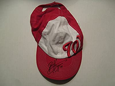 Bryce Harper autographed/Signed Washington Nationals Hat COA