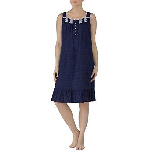 Secret Treasures Womens Size M 8-10 Traditional Navy Woven Sleeveless Gown ...