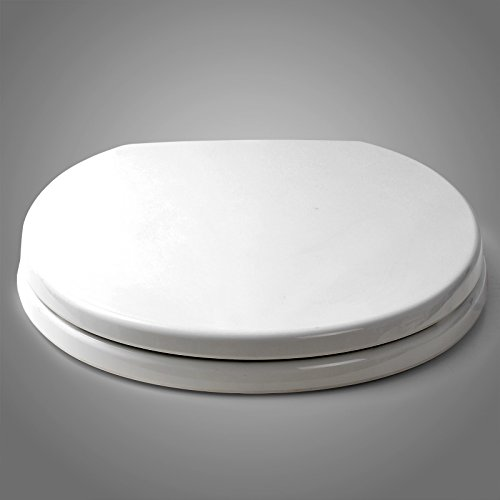 SITU STS0003 Round Quiet Closing toilet seat Suitabl for Size 14.3x16.2-16.9 inch, Whisper Close Hinges (Seat Closing Quiet Elongated)