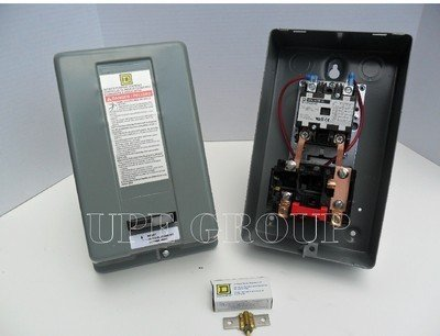 Motor Starter 5hp 1ph 230V definite purpose magnetic motor starter from Square D 8911dpsg32v09 by Square D