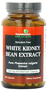 Futurebiotics Capsules, White Kidney Bean Extract, 500 mg, 200 Count